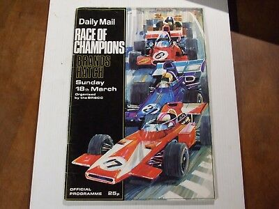 Race Of Champions Brands Hatch 1973 Official Programme