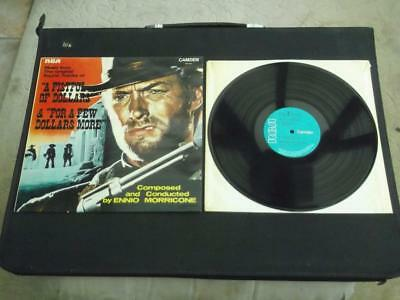 "Ennio Morricone A Fistful Of Dollars Uk Press 12"" Vinyl Record Soundtrack Lp"