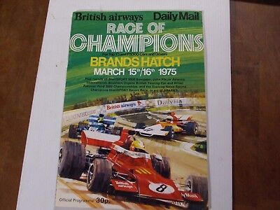 Race Of Champions Brands Hatch 1975 Official Programme