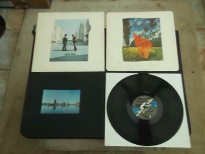 "Pink Floyd Wish You Were Here 1975 Uk Press 12"" Vinyl Record Lp + Postcard"
