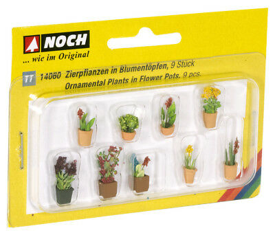 Noch 14060 TT Gauge, Ornamental Plants in Flowerpots # NIP #