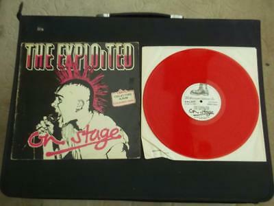 "The Exploited On Stage 1981 Uk Press 12"" Red Vinyl Record Lp"