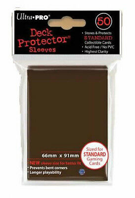 Ultrapro - Card Protector Sleeves - Brown - 66 X 91Mm Standard Size