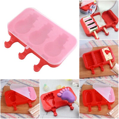 Silicone Ice Cream Mold Pop Ice Lolly Maker Frozen Mould Chocolate Tray