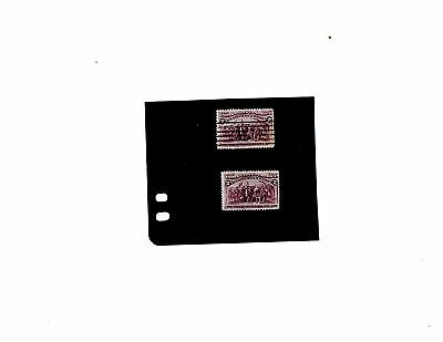 Us Stamps 1893 2C Landing Of Columbus Mint And Used With Broken Hat Variety