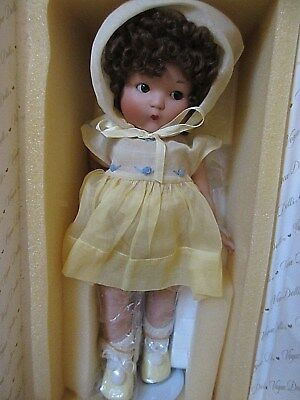Just Me by Vogue Doll 2002 All Porcelain 14 inch in Yellow LE 144 of 500  MIB
