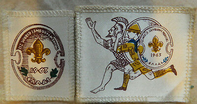 1963 World Jamboree Marathron Greece 2 Patches Boy Scout Bsa