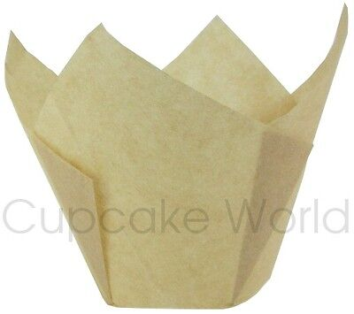 200Pc Natural Jumbo Texas Cafe Style Paper Muffin Cupcake Wraps Cup Cases Liners