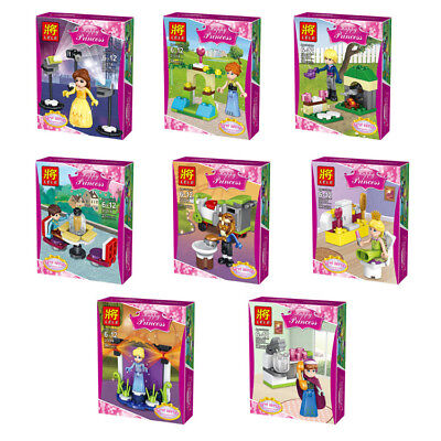 Happy Princess Lego Comapatiable Friends Characters Play Set Pack of 8