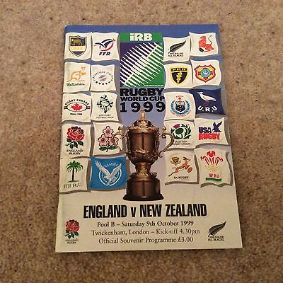 England V New Zealand World Cup 1999 Pool B Programme