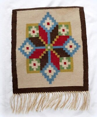Vintage Star Swedish Woven Wool Wall Hanging Tapestry Sweden