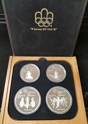 1976 Canada Sterling Silver Olympic Coins Proof Set Series 3 (4 Coins)
