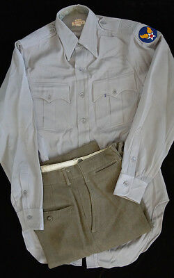 Ww2 Us Army Air Corps Officers Shirt & Trousers