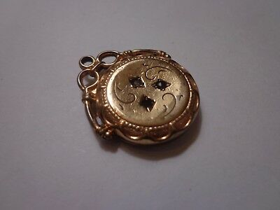 Antique Victorian Gold Filled Paste Fob Charm Or Pendant