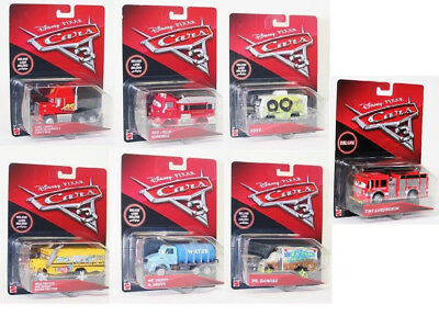 Cars 3 Deluxe Fahrzeuge, Red, Drippy, Mr. Damage, Arvy, Miss Friter, 1:55