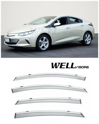 For 07-15 Mazda CX-9 WellVisors Side Window Deflector Visors With Chrome Trim