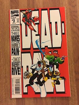 Deadpool#3 Circle Chase 1St Print Marvel Comics (1993) New Movie Soon!!!