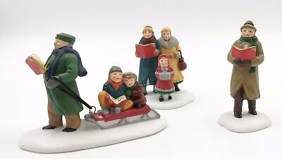 Dept 56 CAROLING THRU THE CITY Set of 3 Pieces Heritage Village Collection