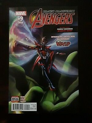 All-New, All-Different Avengers #9 (July 2016, Marvel) Introducing the New Wasp
