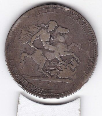 1820    King  George III  Crown  (2/6d) -  Silver  (92.5%)  Coin