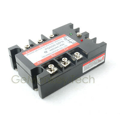 New 3-Phase Solid State Relay SSR 4-32VDC/40-480VAC 40A Motor Revrsing Control