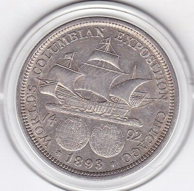 1893  Columbia  Exposition  Half  Dollar  (90% Silver) Coin
