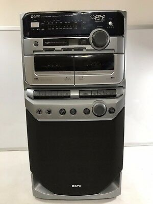 GPX C1550 Karaoke Singing Machine Compact Disc Player Dual Cassette Recorder