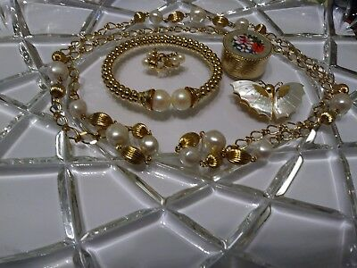 🌠vintage/ Modern Mixed Jewelry Lot Of Nice 5 Pieces