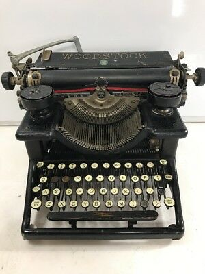 Vintage Woodstock Standard Typewriter Model 5N Made In USA Early 1900s Antique