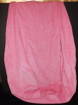 PIER ONE 1 KIDS PINK CORDUROY SOFT COTTON BEAN BAG ZIPPERED COVER 3ft x 2ft.