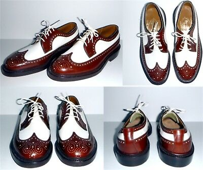 Vintage Barrie LTD Booters Custom Made Wing Tip Shoes Worn Only Once Brown White