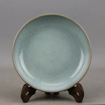 China old antique Porcelain SONG RU kiln sky blue glaze plate brush washer