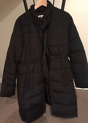 Black Old Navy Maternity Winter Coat With Hood Size Large