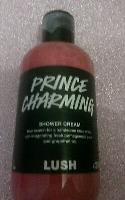 Lush Cosmetics Prince Charming Shower Cream Gel 250g Bottle Limited Edition Rare