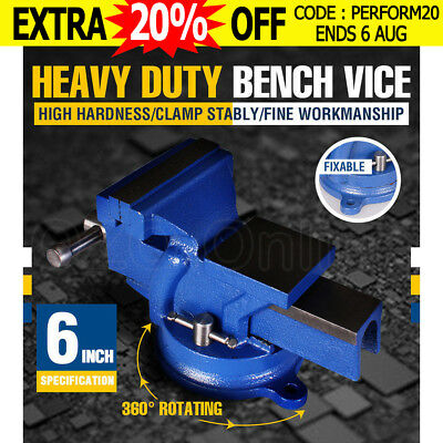 """6"""" INCH 150MM Mechanic Workshop Table Bench Vice Heavy Duty Steel Grip Clamp NEW"""
