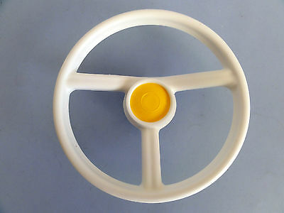 Pedal Car Steering Wheel Tri-ang ~ White