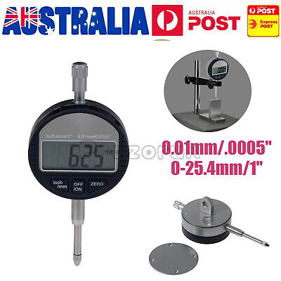 "Digital Dial indicator DTI 0.01mm/.0005"" Range 0-25.4mm/1"" Clock Gauge"