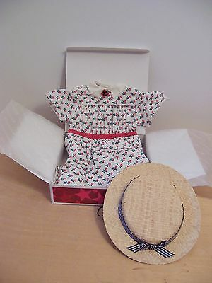 American Girl ADDY SUMMER DRESS & STRAW HAT NEW IN BOX