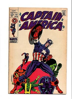 Captain America 111 Fn+ Jim Steranko All Time Epic Art & Cover Key Solid Copy