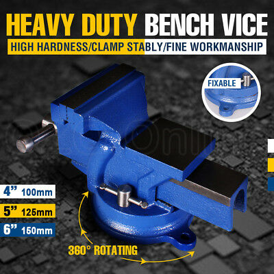"""4''5""""6"""" Inch Mechanic Workshop Table Bench Vice Heavy Duty Steel Grip Clamp NEW"""