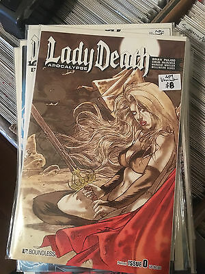 LADY DEATH APOCALYPSE #0 NM 1st Print PAINTED VARIANT Boundless Brian Pulido