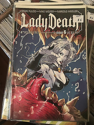 LADY DEATH #6 NM 1st Print Boundless Brian Pulido Mike Wolfer