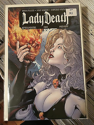LADY DEATH FREE PREMIERE NM 1st Print Boundless Brian Pulido Mike Wolfer