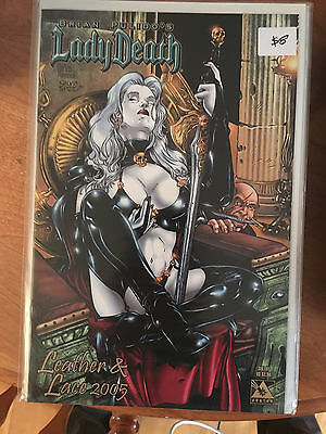 LADY DEATH LEATHER & LACE 2005 NM 1st Print Avatar Brian Pulido SULTRY VARIANT