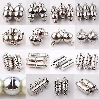 10Pcs Silver Plated Strong Magnetic Clasps Hooks Jewelry Bracelet Necklace Craft