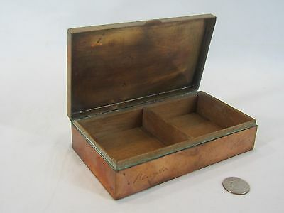 Vintage commemerative copper box from Dempsey & Carroll New York printers