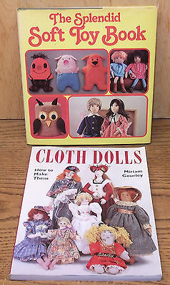 2 Making Cloth Dolls & Soft Toy Making Books lot with patterns & instructions