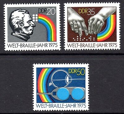 DDR GERMAN. BRAILLE YEAR SET. MINT MNH. CAT £2.75. 0NLY 99p  #B0888