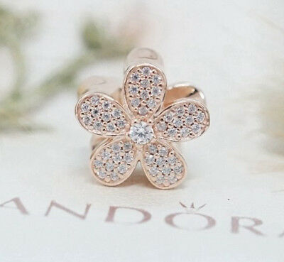 Genuine Pandora Dazzling Daisy Charm Bead 781480CZ Rose Gold Collection