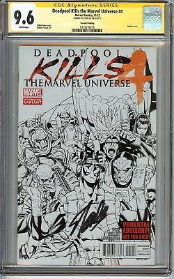 Deadpool Kills the Marvel Universe #4 CGC 9.6 NM+ SIGNED STAN LEE Variant Comics